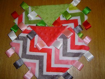 Chevron Taggy Blankets, Watermelon or Jade, Supersoft!