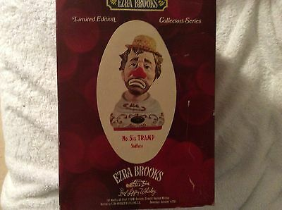 Limited Edition Ezra Brooks no.6 Tramp ( SADFACE) fine porcelain clown decanter