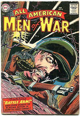 All American Men Of War #42 Easy Co Story By Kubert--- Vg