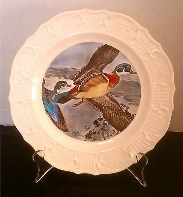 """""""Wood Ducks,"""" Seagram's Whiskey Advertising Collectible Wildlife Plate"""