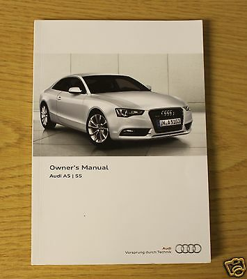 Audi A5 S5 Coupe And Sportback Handbook Owners Manual  2011-2016  Main Book