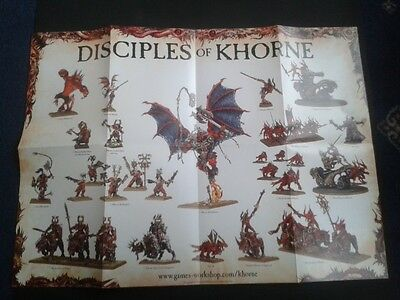 GW Warhammer/ Age of Sigmar Chaos products poster
