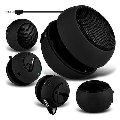 Latest Black Mini Portable Travel Bass Speaker for iPod iPhone iTouch iPad MP3