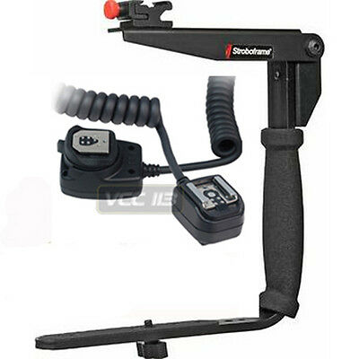Stroboframe Bracket+Off Camera Cord FOR CANON 1D 1Ds 5D XTi XS