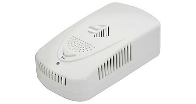 Mercury Mains Powered Household Gas / LPG Leak Detector Monitor Alarm - White