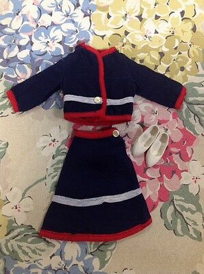 1965 Pedigree vintage Sindy doll Mamselle sunday best suit with shoes