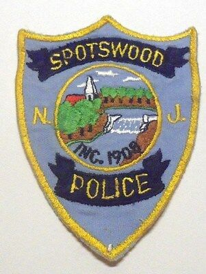 Old Spotswood New Jersey Police Patch