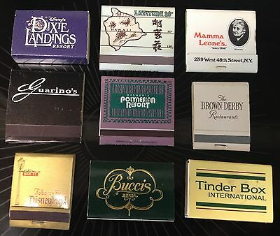Matchbooks Lot Of 9 Used And Not