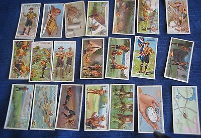 OGDENS CIGARETTE CARDS early 1900s BOY SCOUTS  lot x21 good condition