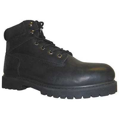 Size 8 Work Boots, Men's, Black, Steel Toe, R, Work Master