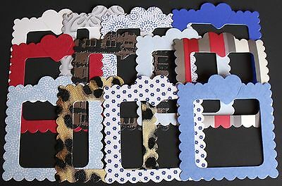 ASSORTED HEART FRAMES pack of 10 for card making or scrapbooking