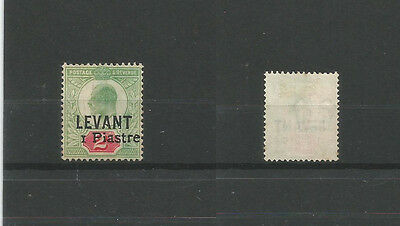 British Levant:  Sg15 1pi on 2d sold 'AS IS', spacefiller, second.