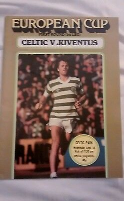 Celtic v Juventus European Cup season 1981-1982