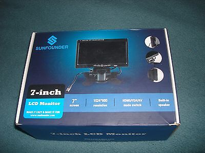 """Sunfounder 7"""" HD 1024x600 TFT LCD Screen Display HDMI Monitor for Raspberry Pi"""