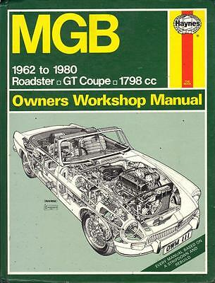 Mg Mgb Roadster,convertible,mgb Gt Fixed Head Coupe Haynes Manual 1962-1980