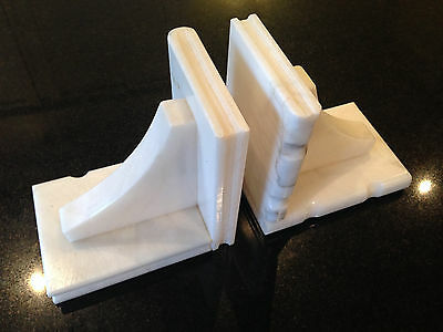 vintage white marble book ends for that shabby chic look room