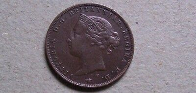 GREAT BRITAIN...1877 H STATES OF JERSEY..1/24th OF A SHILLING......VICTORIA...