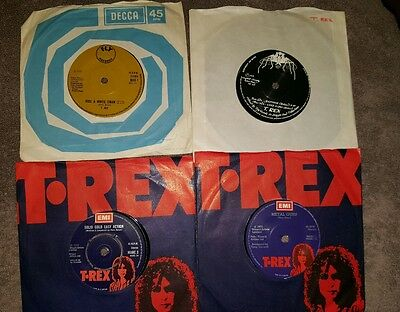 T Rex Singles x 4 Metal Guru / Solid Gold Easy Action  / Jeepsters / Ride A Whit