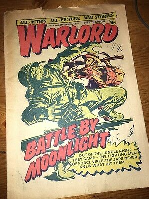 Warlord Comic #63 December 6th 1975 , small tear at top of front and rear cover