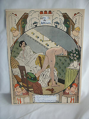Risque....love in the afternoon....signed  Carlegle