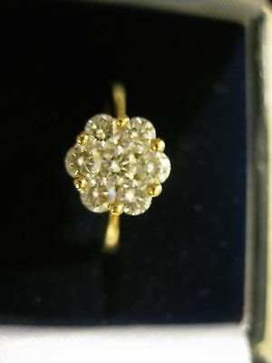 Diamond Cluster Ring  18ct Y/gold 0.7ct Hallmarked RRP £1500+