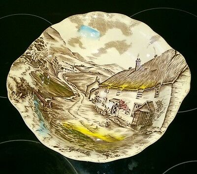 """Quiet Day"" By W.H GRINDLEY LARGE STAFFORDSHIRE POTTERY DISH - GREAT ITEM"