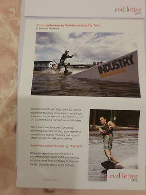 An introduction to Wakeboarding for Two(Lesson) by Red letter Days Ltd