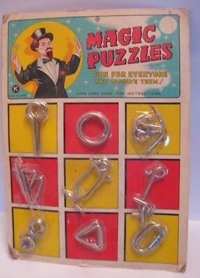 Old Store Stock of Magic Linking Puzzle Tricks in PKG w/ Magician Graphics