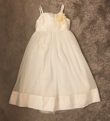 Monsoon Girls Party Bridesmaid Special Occasion Dress, Cream/Ivory 5-6 Years