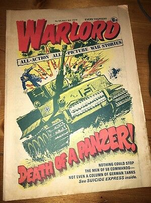 Warlord Comic #85 May 8th 1976 , 'Suicide Express' cover art