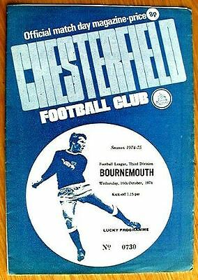 Chesterfield v Bournemouth 74/75 Mint