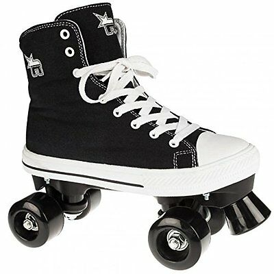 New in Box Rookie Canvas High Top Quad Roller Skates UK Size 6 Black