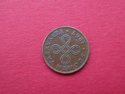 Finland 1 Penni  Coin 1969 One