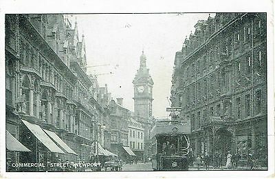 Newport Mon Commercial Street With Tram 1905