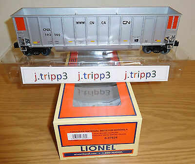 Lionel #27828 Canadian National Cn Rotary Bathtub Coal Gondola O Scale Train Car
