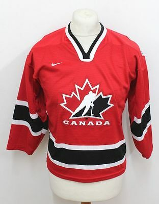 Canada Nike Jersey Ice Hockey Olympic Long Sleeves Rare Perfect ! Size L