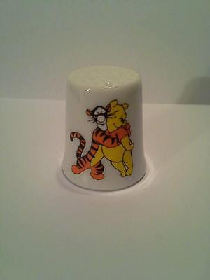 Winnie The Pooh Tigger Hugging Collectible Porcelain Thimble