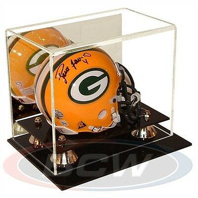 MINI-HELMET DISPLAY CASE, with Mirror Back, Wall Mountable