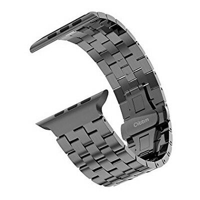 NEW Oittm 42mm Space Gray SS Apple Watch Band