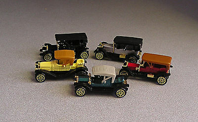 Diecast & plastic toy Antique Cars Collectible  Lot of 5     High Speed