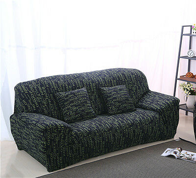 Letters Spandex Stretch Fitted Sofa Cover Pet Protector for 1 2 3 4 seater Couch