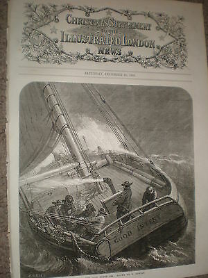 On the Cold North Sea by E Duncan 1868 old print ref W1