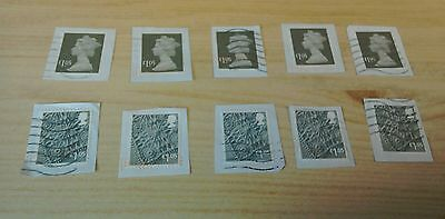 2016 £1.05 N.Ireland & English machin  x5 each GU/ FU stamps on paper per scan