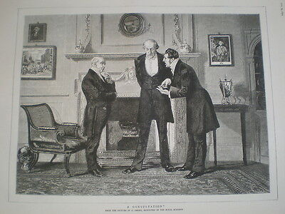 A Consultation from C Green 1879 old print