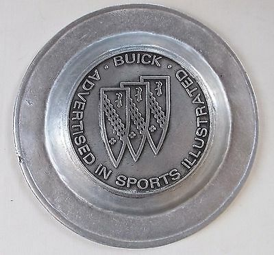 """Buick/Advertised In Sports Illustrated 1960's 9"""" Cast Aluminum Plate-Scarce"""
