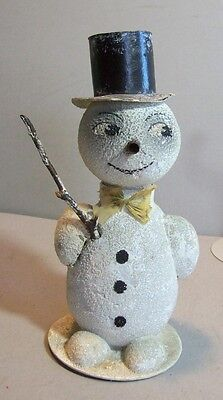 Great Old Snowman Candy Container
