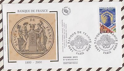 7 Fdc 167 Banque De France 2000 First Day Cover
