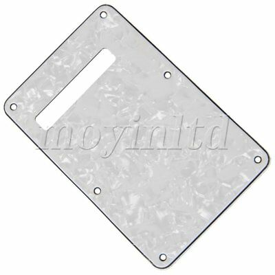 PVC Tremolo Rear Spring Cover White Pearl 3ply Back Plate For Electric Guitar