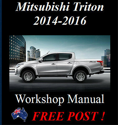 Mitsubishi Triton 2014 - 2016 4Wd & 2Wd Factory Workshop Manual On Cd - The Best