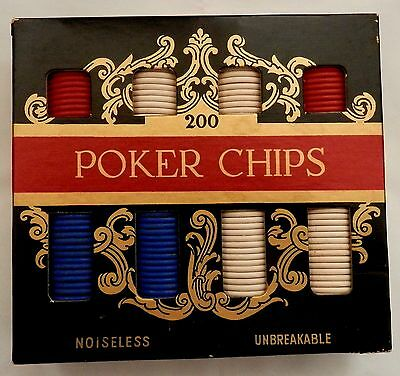 DENNISON POKER CHIPS Embossed Assorted Colors No. 43 Framingham Mass